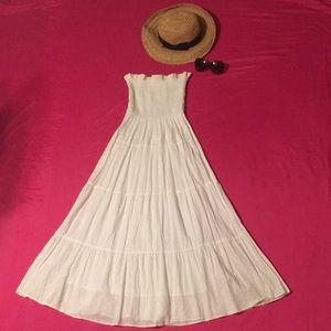 SPEED CONTROL NEW YORK- WHITE STRAPLESS BOHO DRESS